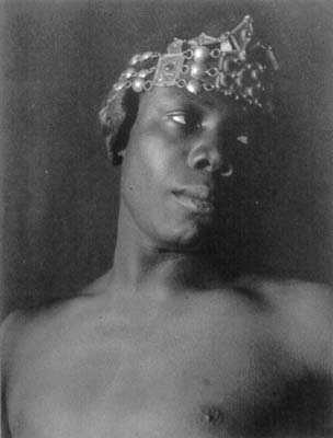 Black man with diadema, ca. 1897, F. Holland Day