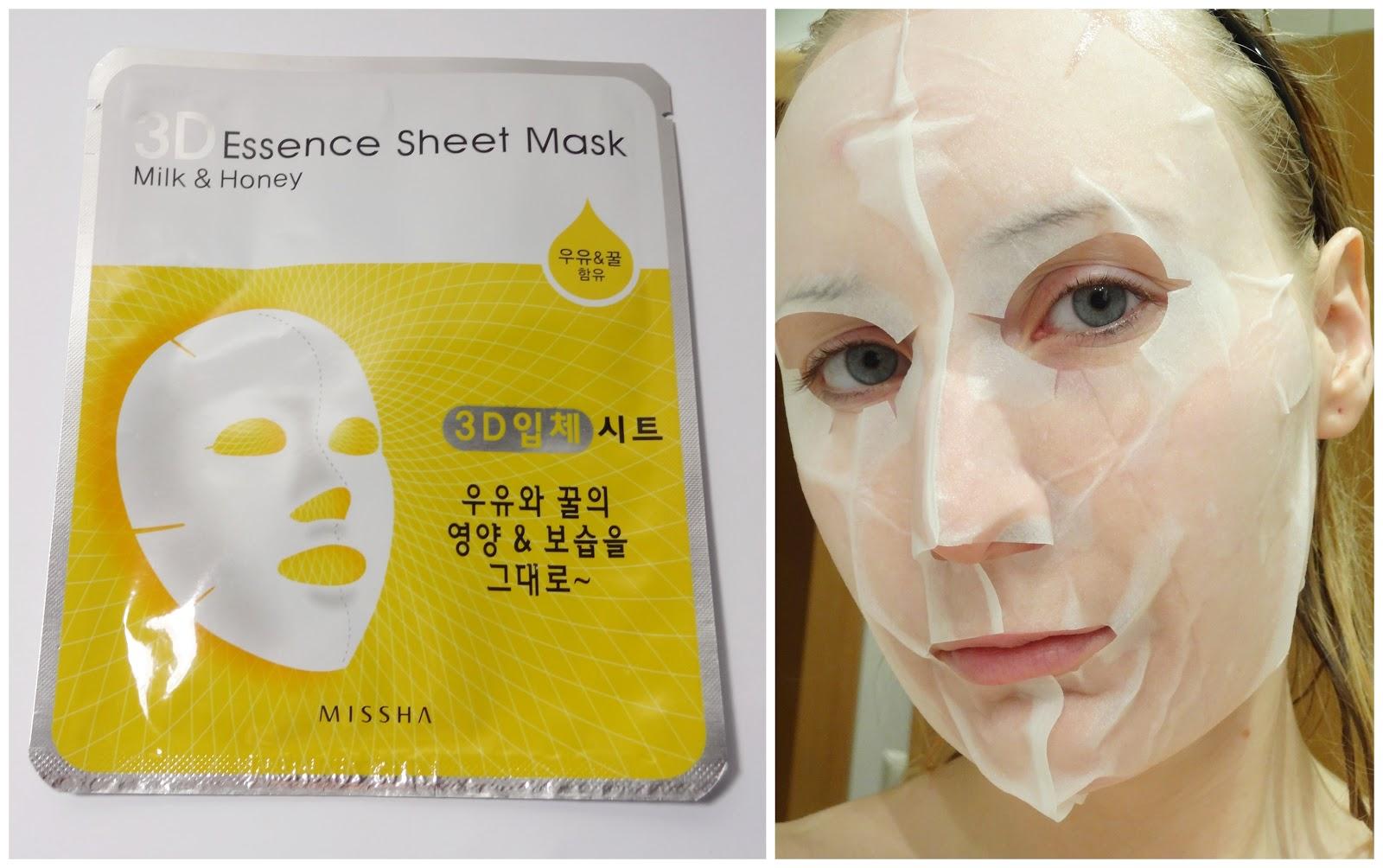 Missha - 3D Essence Sheet Mask (Milk & Honey)