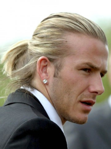 Beautiful Half Ponytail Hairstyle For Men In 2015 Jere