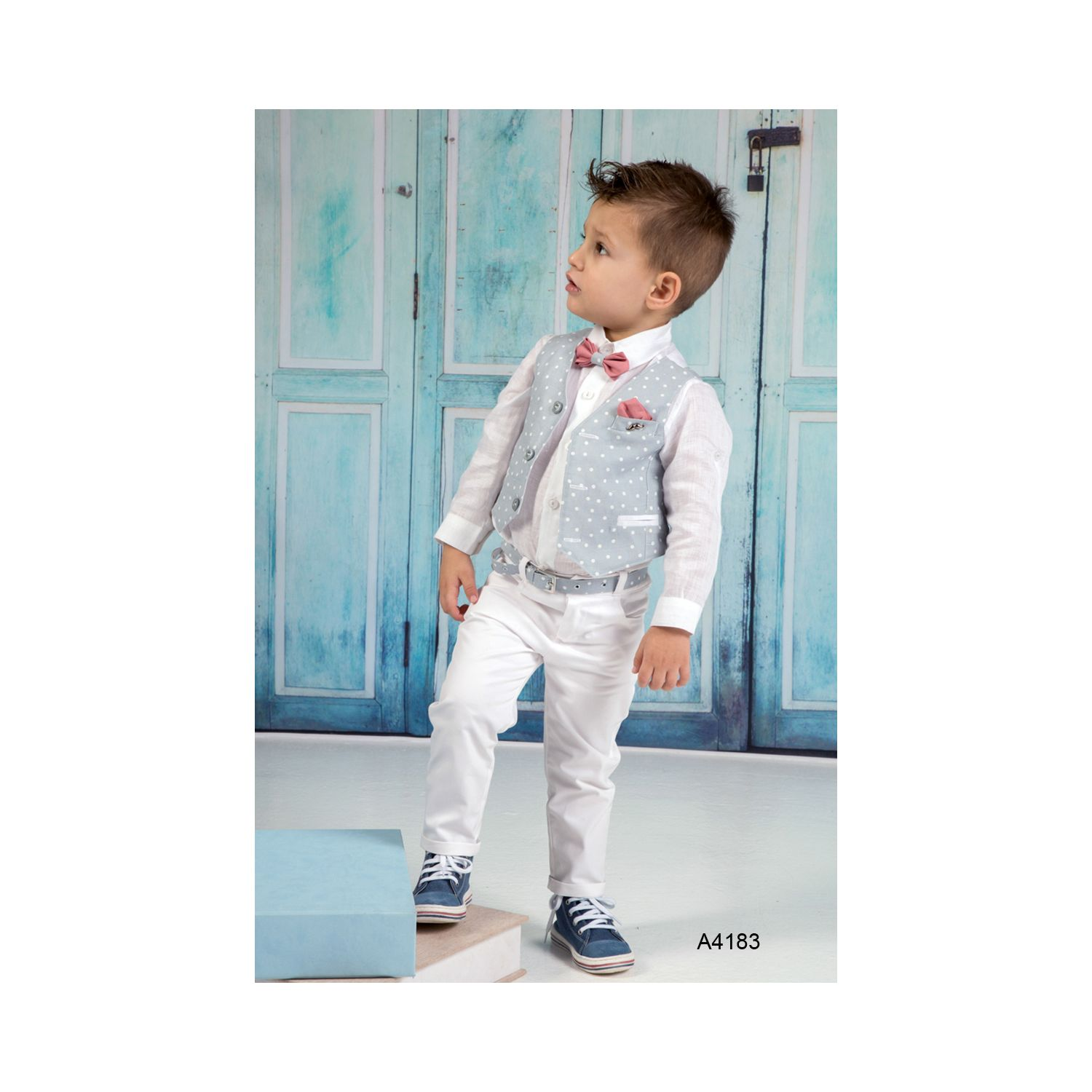 Summer baptism clothes for boys A4183