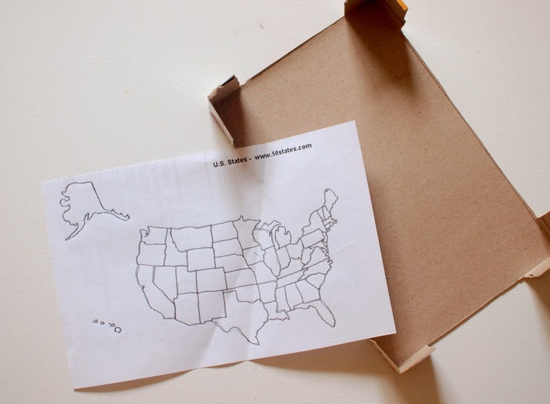 print out a map and cut up the cereal box