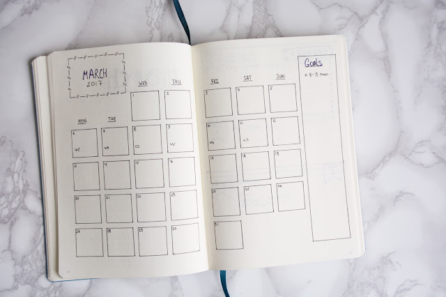 Bullet Journal 2017  monthly planner