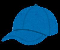 野球帽のイラスト(青)