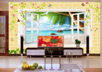 3D wallpaper for walls of living room interior designs 3D murals images (10)