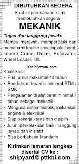 Lowongan Kerja PT. TKBI Indonesia
