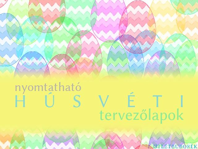 Nyomtatható húsvéti tervezőlapok