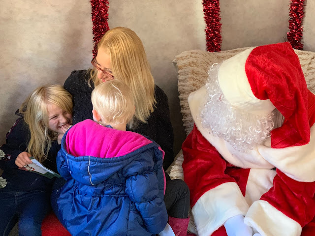 A happy family at Santa's grotto Wyevale Garden Centre