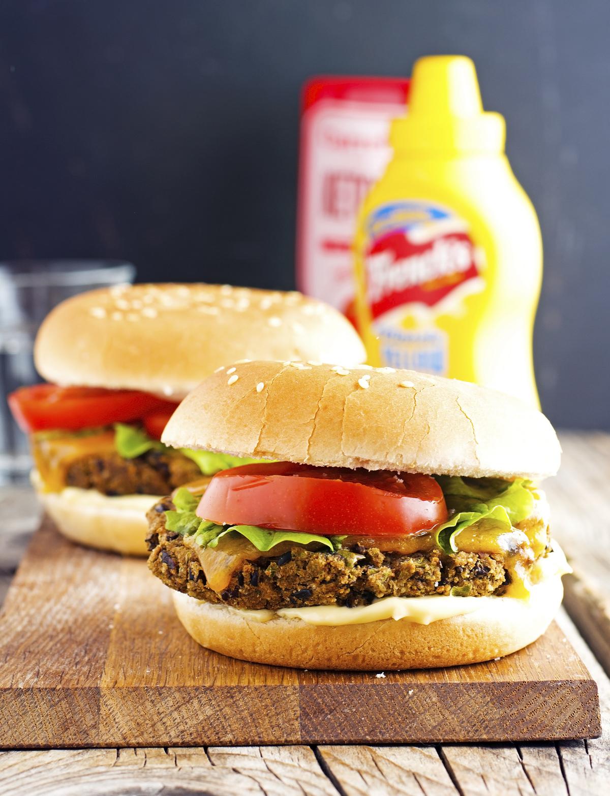 Classic Black Bean Veggie Burger