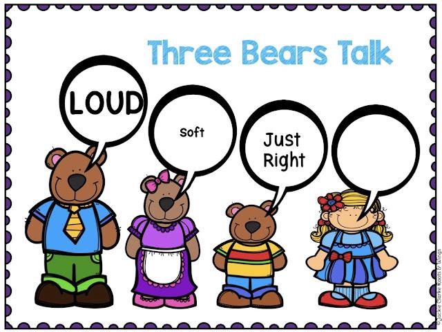 kindergarten voice level posters
