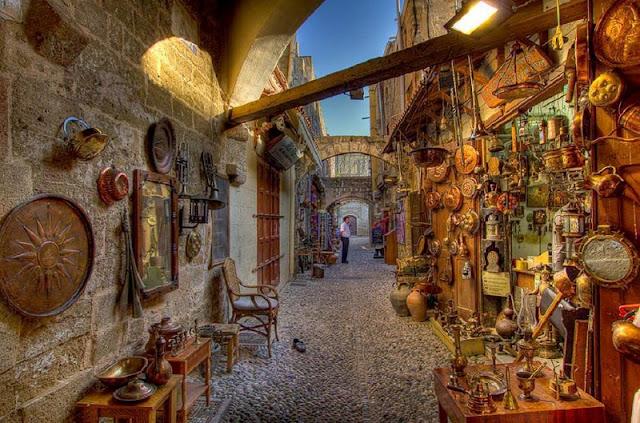 Parte velha da cidade de Rodes