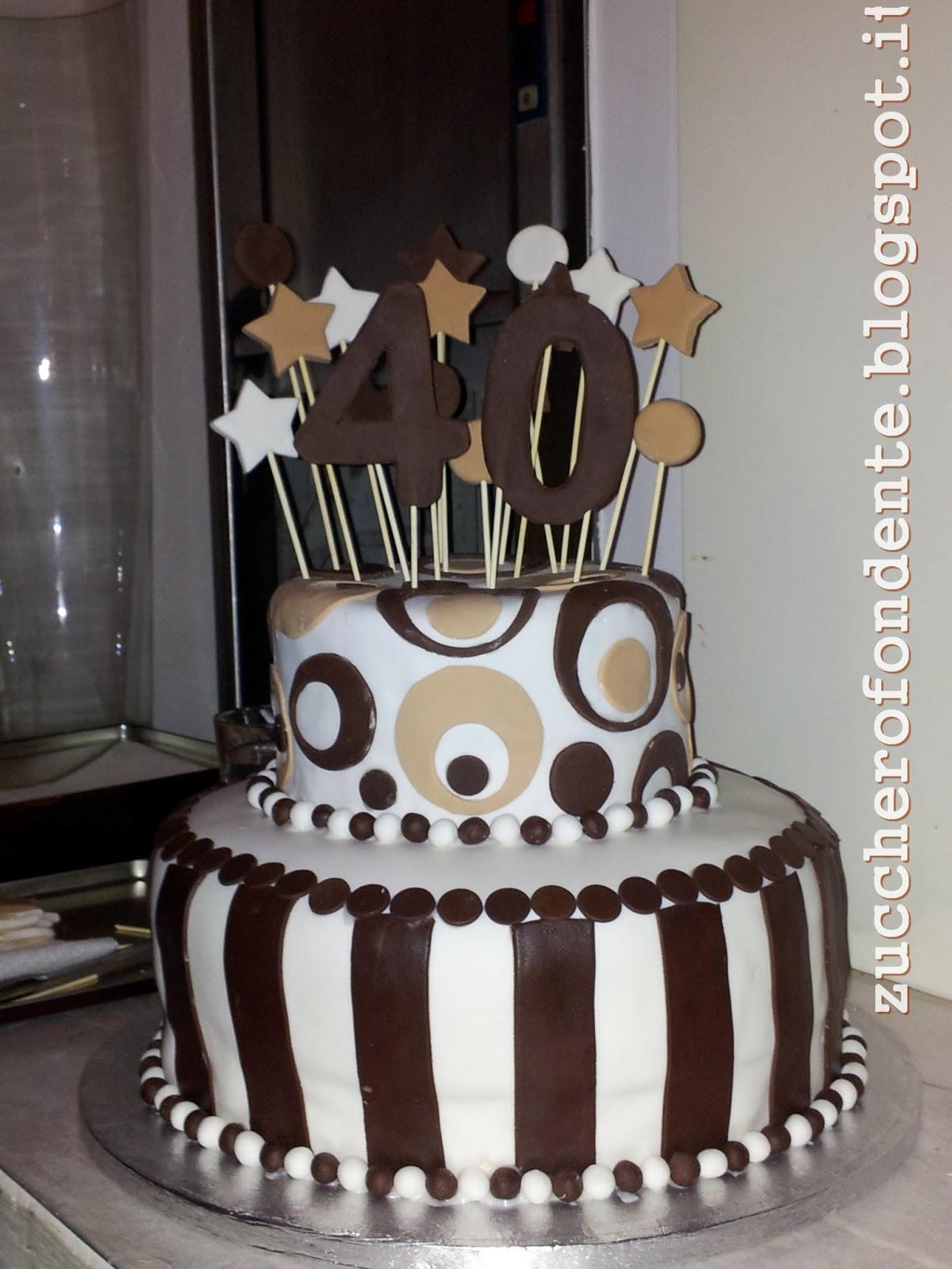 Immagini di compleanno 40 anni for Decorazioni torte 40 anni uomo