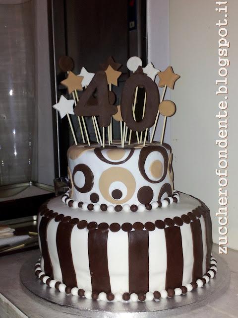 Zuccherofondente torta 40 anni a due piani for Piani di casa a buon mercato