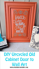 DIY Old Cabinet Door Upcycle to Family Room Wall Art