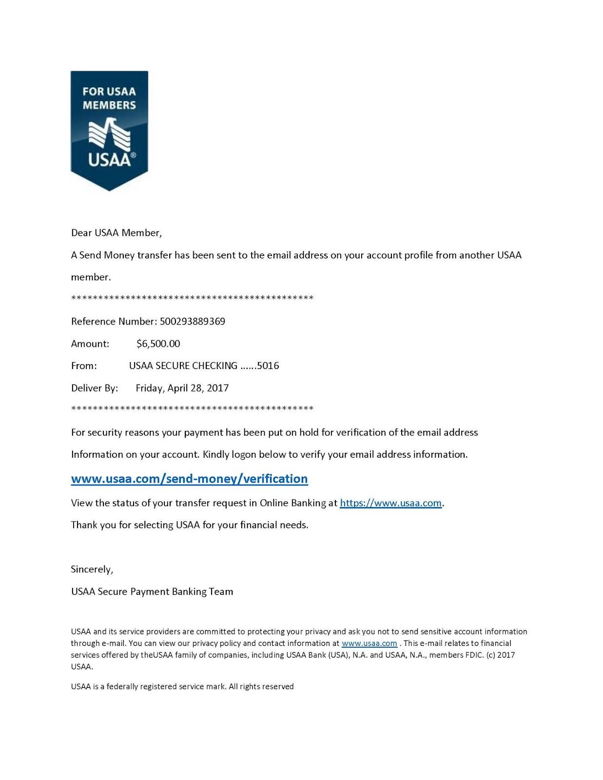 Usaa phishing