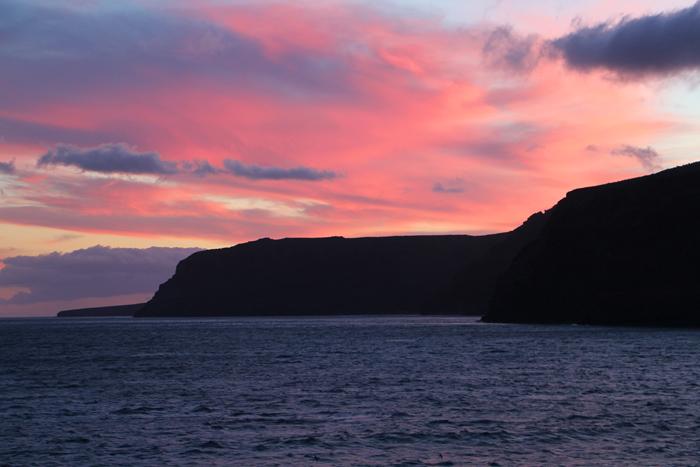 Sonnenuntergang vor La Gomera