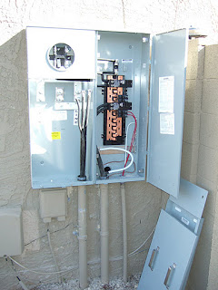 Azben  400 Amp Meter Panel Installed