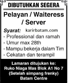 Lowongan Kerja Waitress Niaga Mas