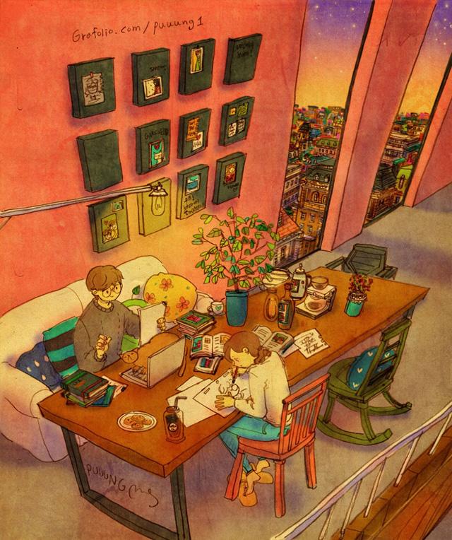 Aşk aynı odada çalışmaktır