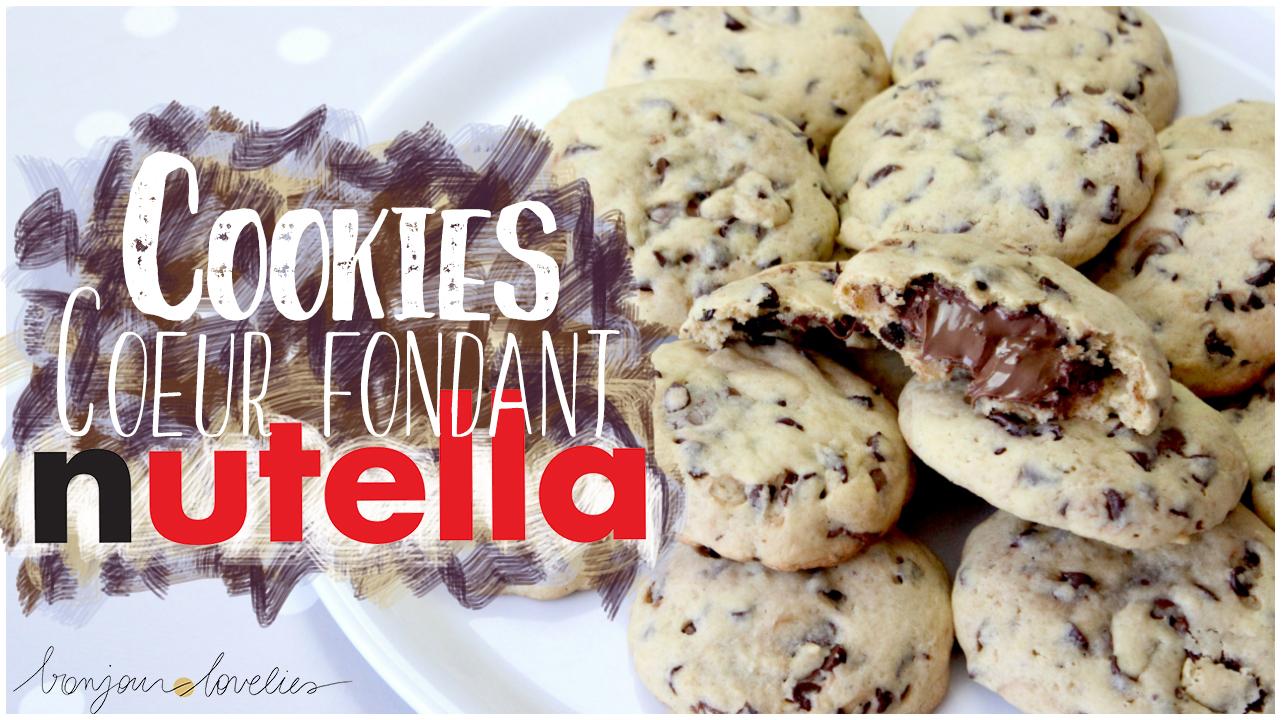 comment faire des cookies coeur fondant nutella recette. Black Bedroom Furniture Sets. Home Design Ideas