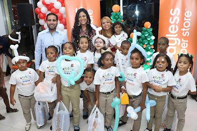 Representación de los niños beneficiados.
