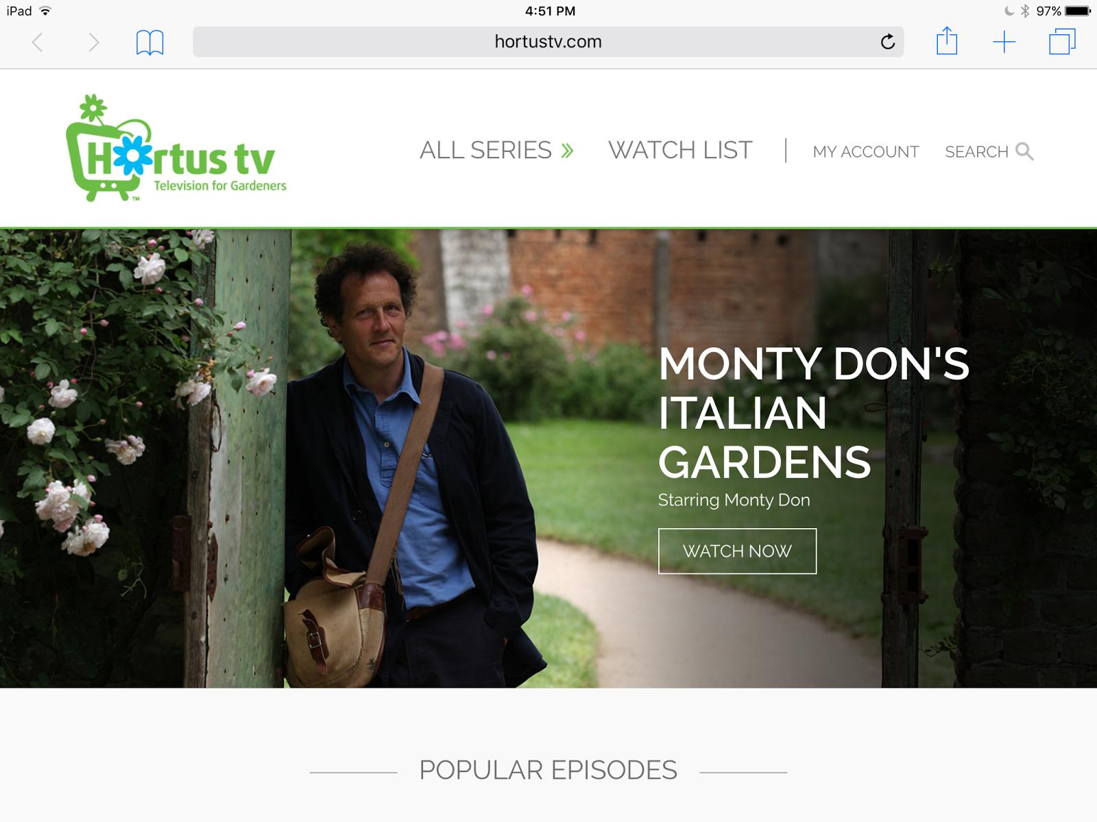 Danger garden hortus tv this is fantastic for Gardening programmes on tv