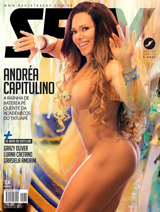 Andréa Capitulino na Revista Sexy do mês de março