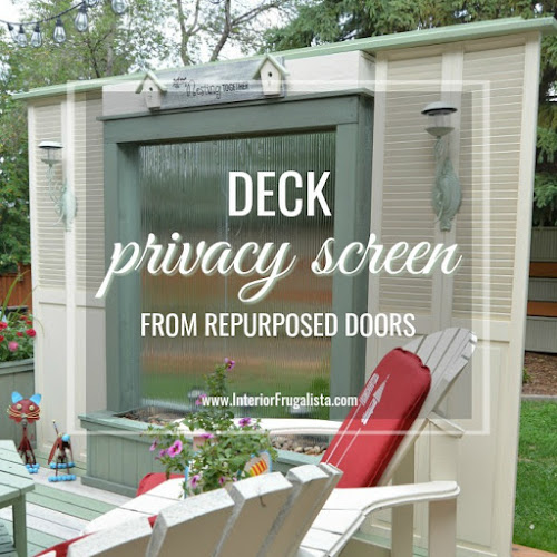 Deck Privacy Screen From Repurposed Louvered Doors