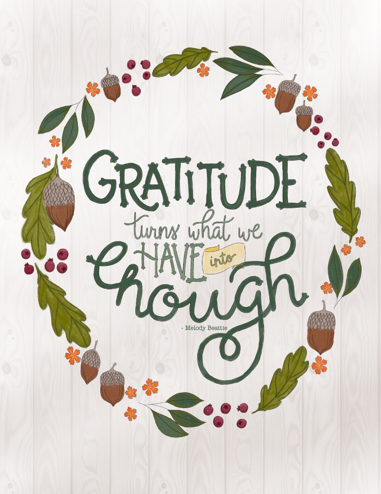Just What I Squeeze In Gratitude Free Thanksgiving Coloring Page