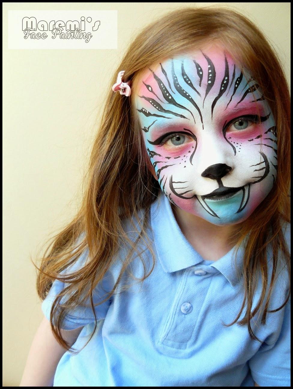 Maremi S Face And Body Painting Teczowy Kolorowy Tygrys Malowanie Twarzy Dzieci Rainbow Colorfull Tiger Face Painting