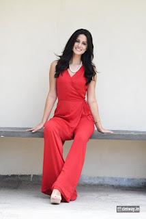 Larissa Bonesi Stills at Thikka Movie Interview