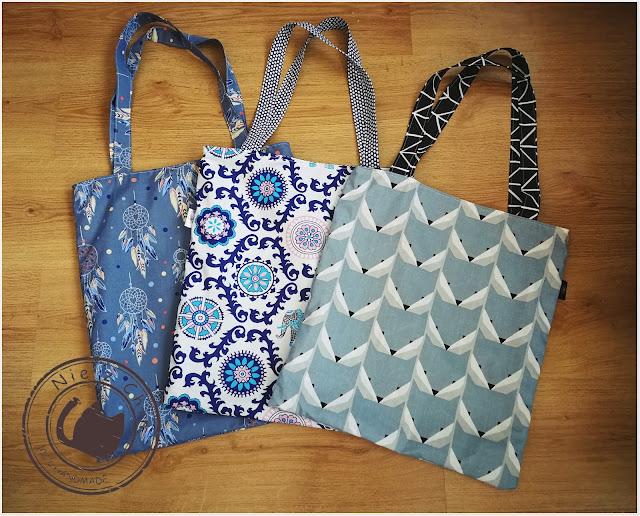 Dwustronne bawełnie torby na zakupy
