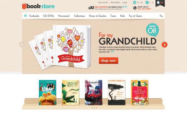 Chia Sẽ  Miễn Phí Theme OpenCart Shop Bán Hàng Sách Tuyệt Đẹp