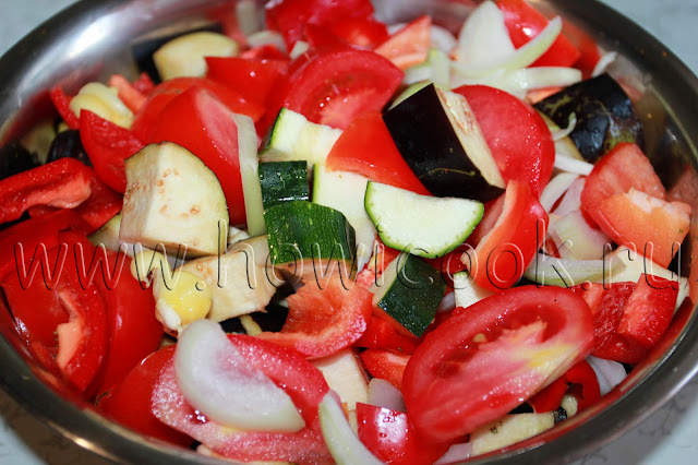 рецепт курицы с овощами в рукаве с пошаговыми фото