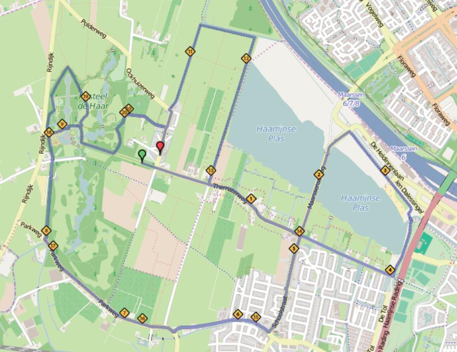 The track of the half marathon.