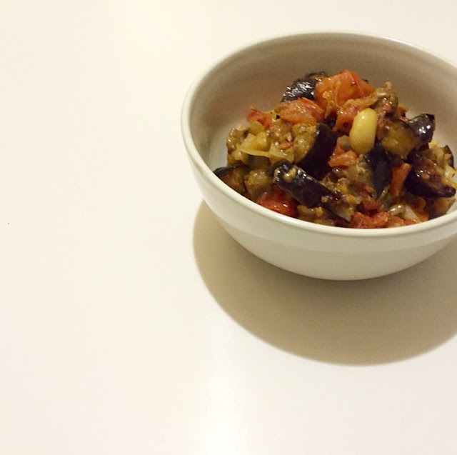 eggplant, vegetarian, roasted eggplant, tomatoes, eating fabulously, Christopher Stewart, recipe of roasted eggplant and tomatoes