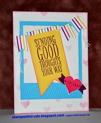 stampwithtrude.blogspot.com Perfect Pennants stamp set Stampin' Up! card