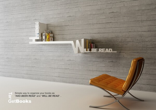 Creative Typographic Bookshelf