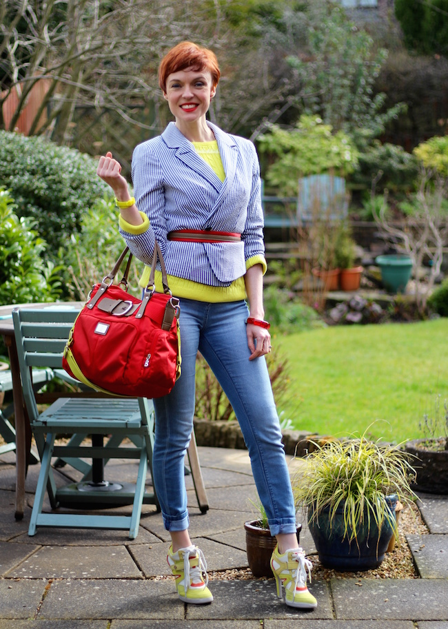 Fake Fabulous | Wearing Sports luxe, wild brights and stripes, over 40.