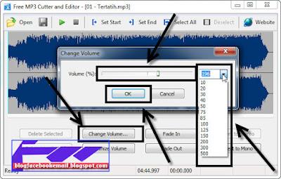 cara merubah suara lagu mp3 lebih tinggi dari suara asli