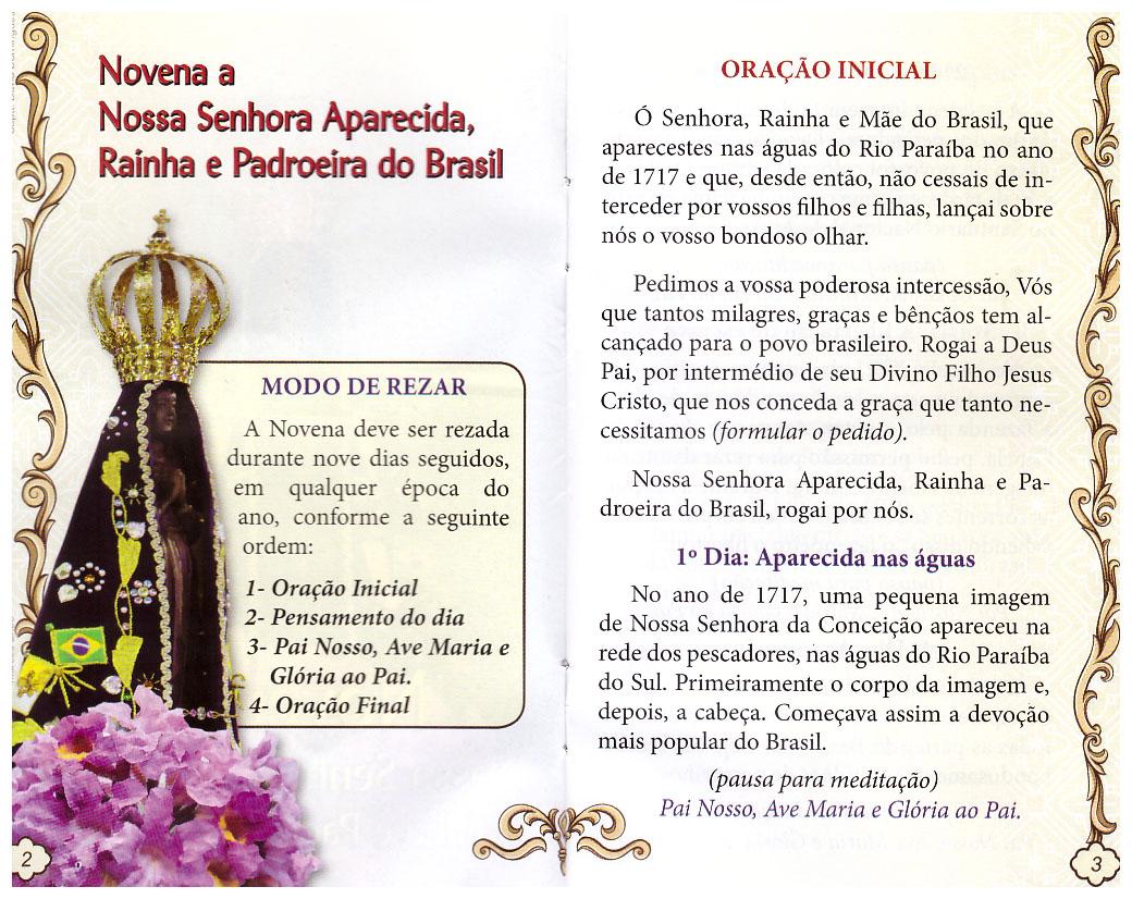 PAREDINHA: Novena A Nossa Senhora Aparecida Rainha E