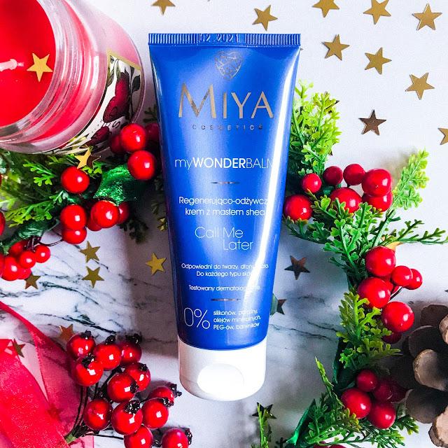 pielęgnacja suchej skóry zimą Miya myWONDERBALM regenerująco-odżywczy krem z masłem shea Call Me Later