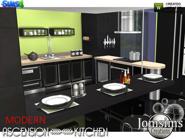 My sims 4 blog modern ascension kitchen set by jomsims for My kitchen set