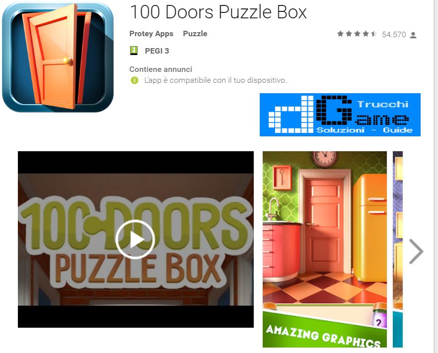 Soluzioni 100 Doors Puzzle Box livello 51 52 53 54 55 56 57 58 59 60 | Trucchi e  Walkthrough level