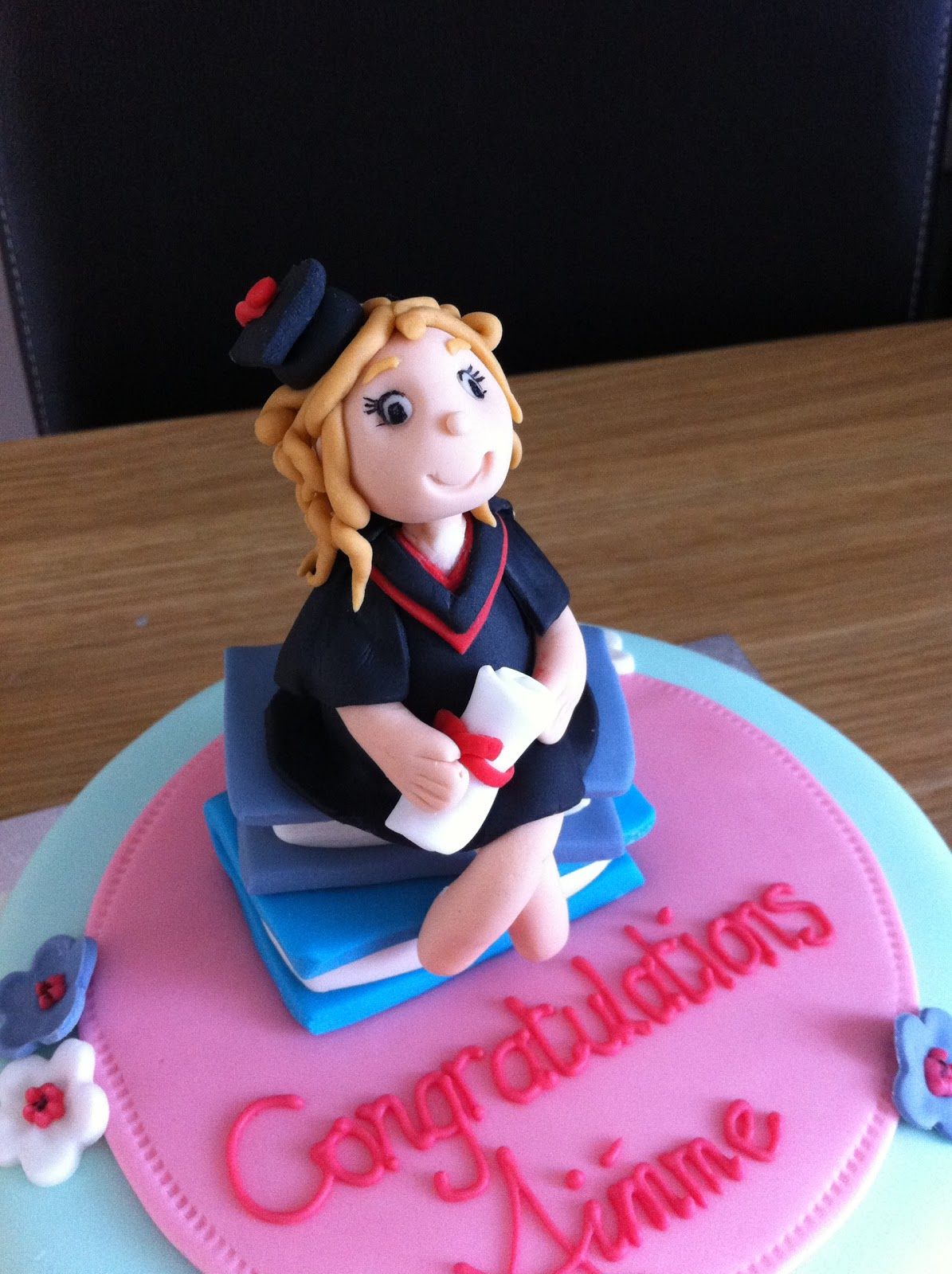 Caked In Icing Graduation Cake