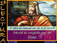 Resultado de imagen para En aquellos días, el Señor dijo a Samuel: «