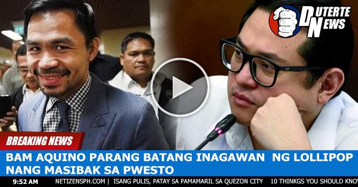 Bam Aquino Parang Batang Iniwan ng Ina Nang Masibak Sa Pwesto