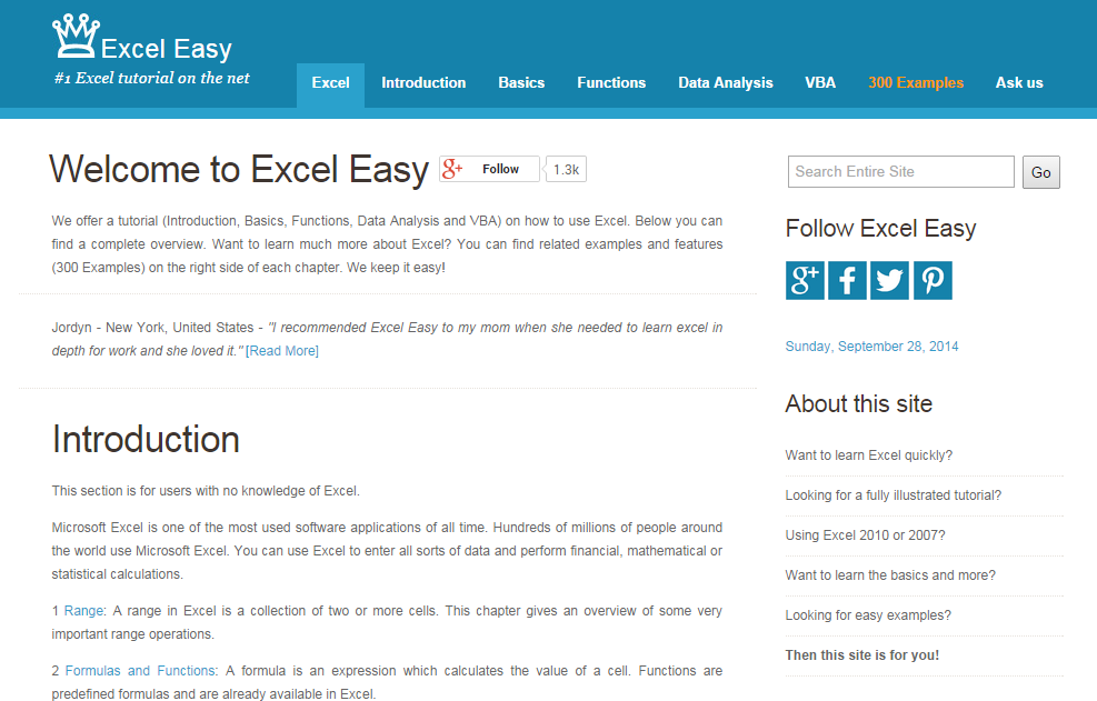 Excel-easy online in tamil