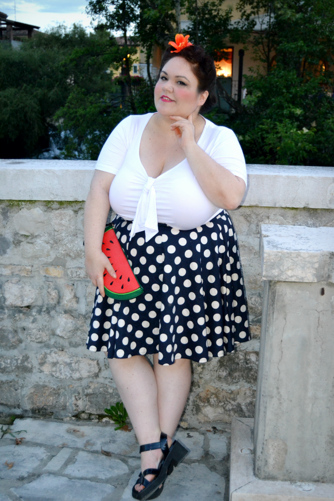a44a18b11ce Plus Size Outfit  What I Wore at the Sacile Vintage Event