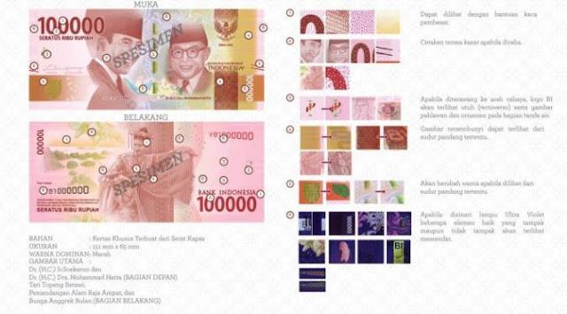 11 Uang Rupiah Baru 2016 Resmi Dikeluarkan Bank Indonesia