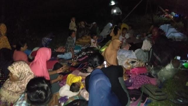 Diguncang Gempa, Ratusan Warga Pulau Morotai Mengungsi